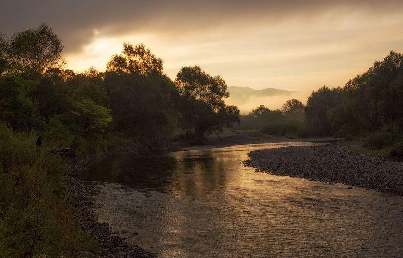приморский край, река партизанская, утро, сентябрь утро на рекеphoto preview