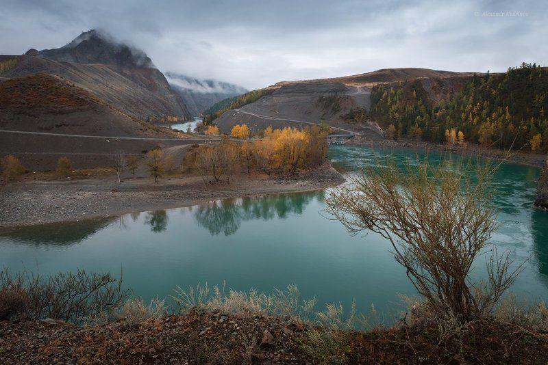 пейзаж, алтай, катунь Осенняя Катунь...photo preview