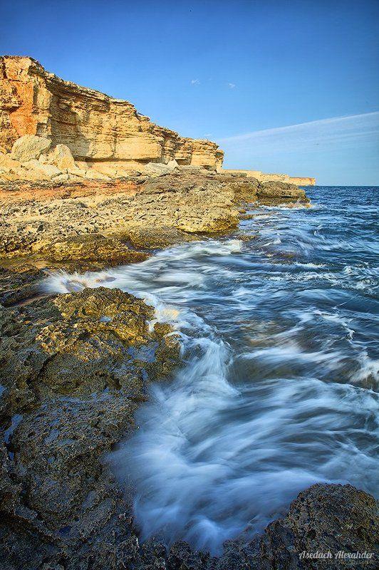 море, закат, утес, крым, тарханкут, вечер, волны Тарханкутphoto preview