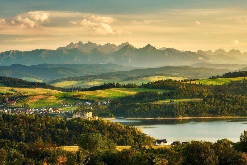 mountains, landscape, tatra Castle Czorsztynphoto preview