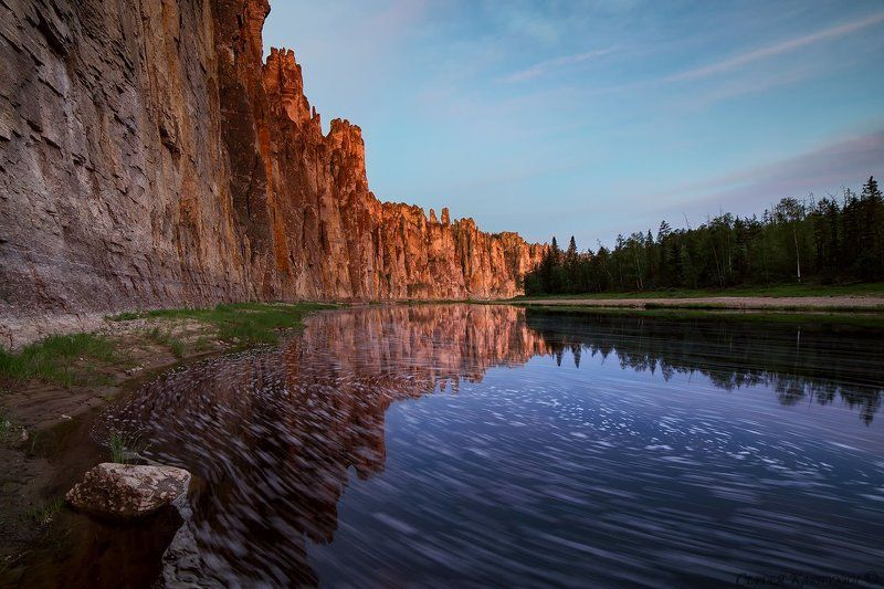 якутия, река синяя, синские столбы Река - Время.photo preview
