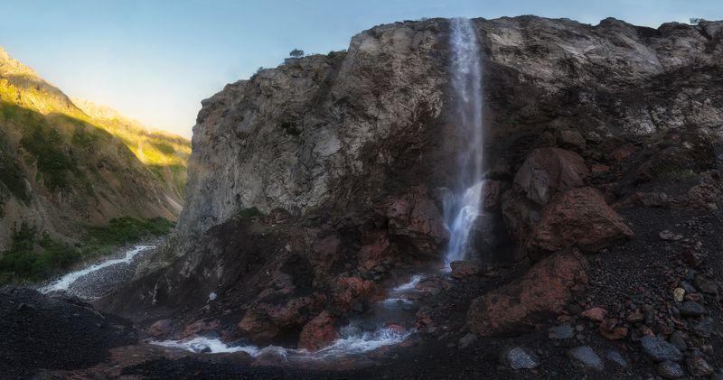 Азау, Эльбрус, приэльбрусье, водопад азау, кавказ Водопад Азауphoto preview