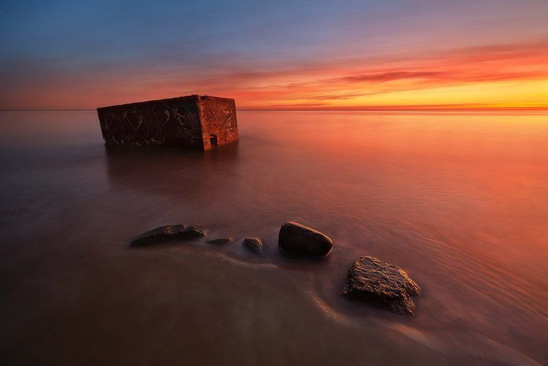 Bunker of war in the Baltic Sea ...photo preview