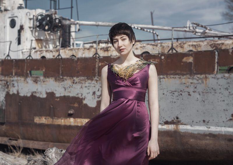 девушка,корабль,портрет ***photo preview