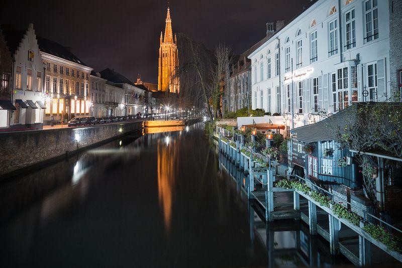 ночь, город, брюгге, канал, башня, отражение,бельгия *Мой ночной Брюгге*photo preview