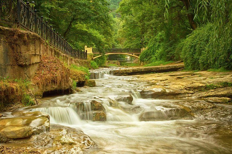 пейзаж, кисловодск, парк, речка, ольховка Ольховкаphoto preview
