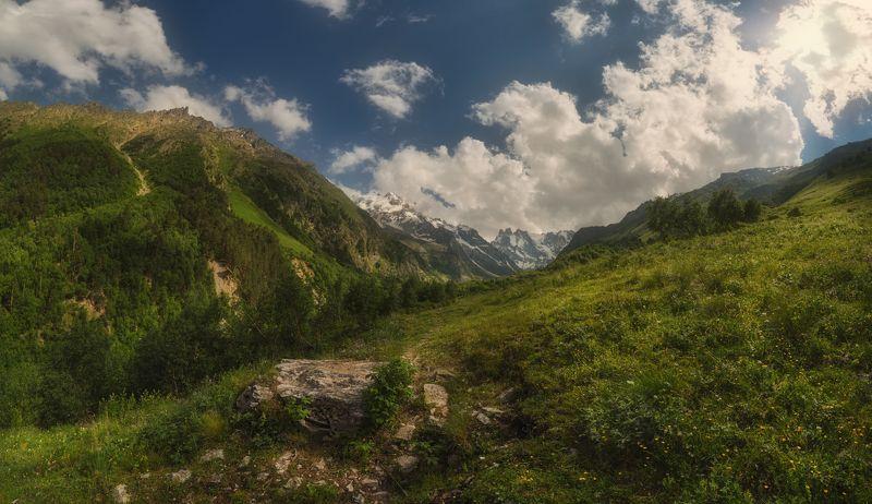 шхельда, приэльбрусье, кавказ На горных лугах Шхельдыphoto preview