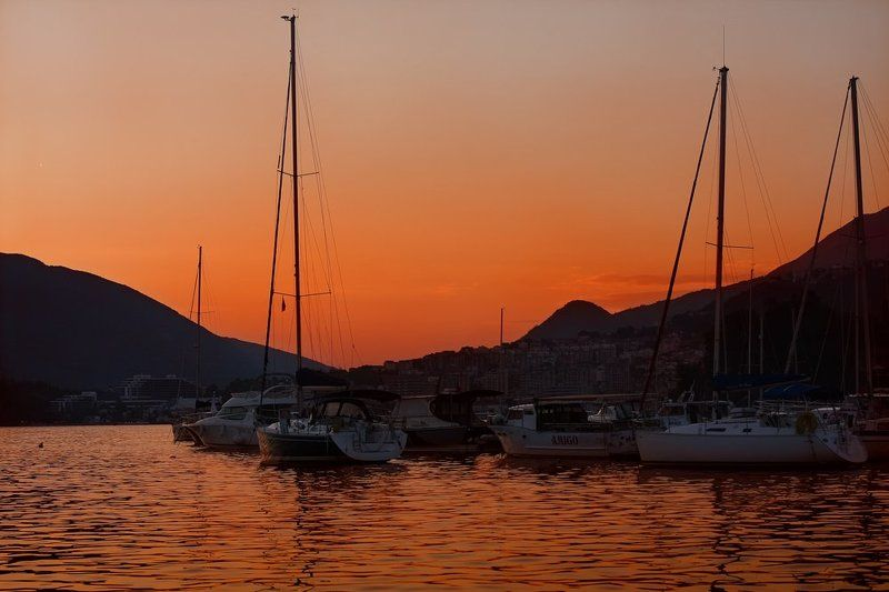 закат, море photo preview