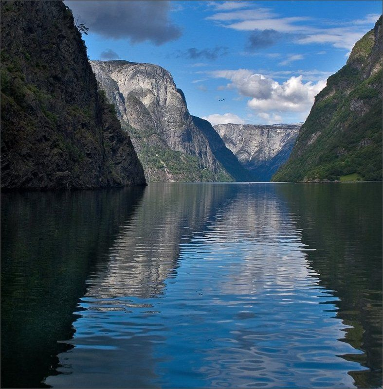 норвегия, фьорд водный путь (Клепсидра)photo preview