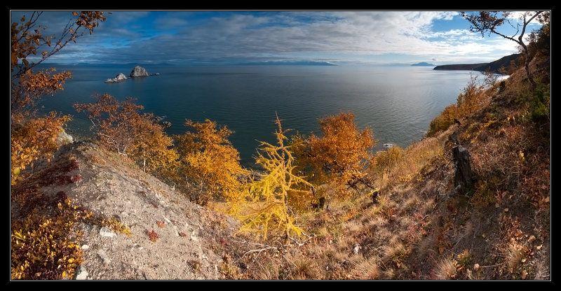 магадан, мыс восточный, море, острова, камни Три Братаphoto preview
