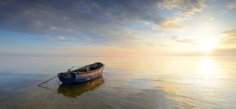 море пейзаж панорама утро рассвет латвия рига юрмала Сеньтябрьское утроphoto preview