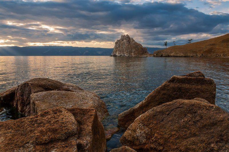 природа, пейзаж, лето, сибирь, горы, озеро, байкал, остров, ольхон, скала, *photo preview