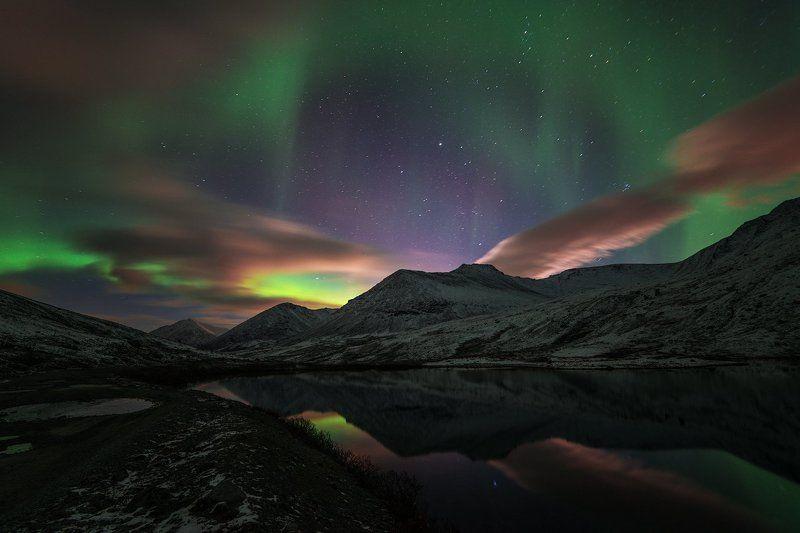 aurora borealis, северное сияние,хибины,север,кольский,заполярье, *photo preview