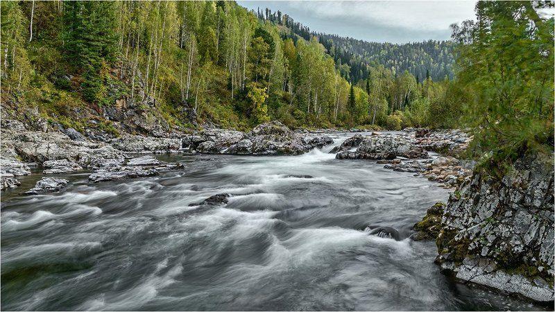 пейзаж, осень, река Суровый порог. photo preview