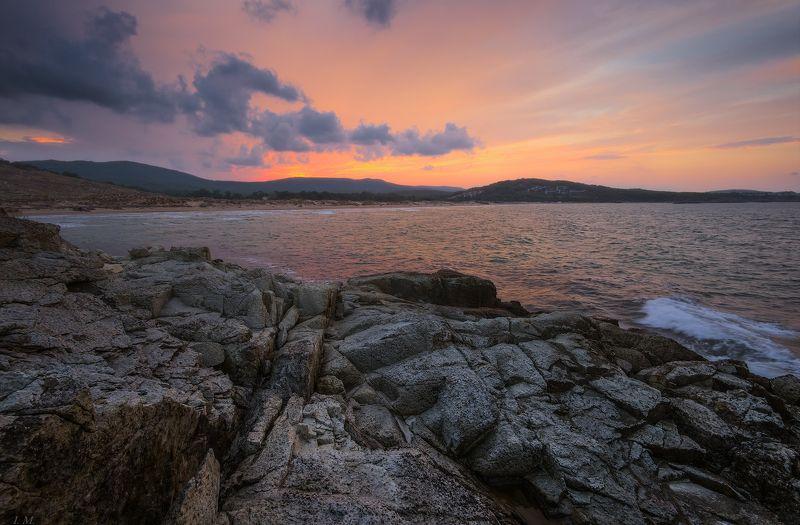 bulgaria, autumn, clouds, evening, sea, sunset, болгария, бухта, вечер, дюны, аркутино, закат, море, осень, свет, черное море, шторм, black sea, storm, marine, dunes, bay, arkutino, ***photo preview