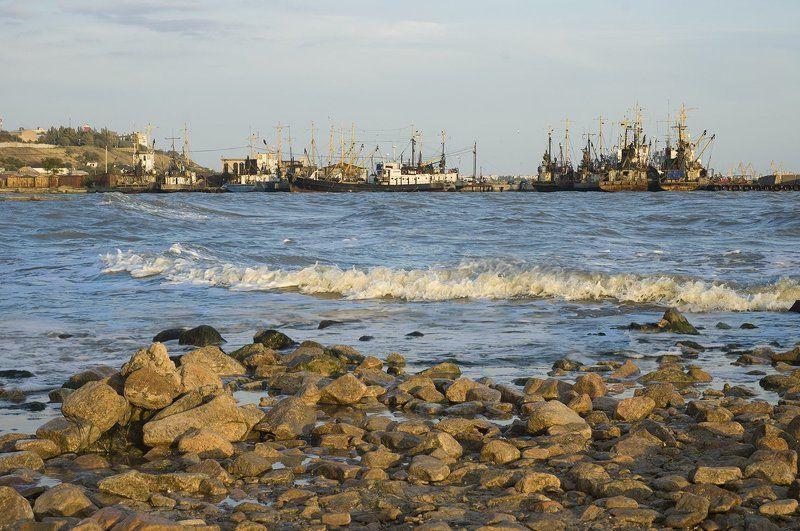 Композинг, Азовское море, порт, корабли, д70, 50мм Бердянский портphoto preview