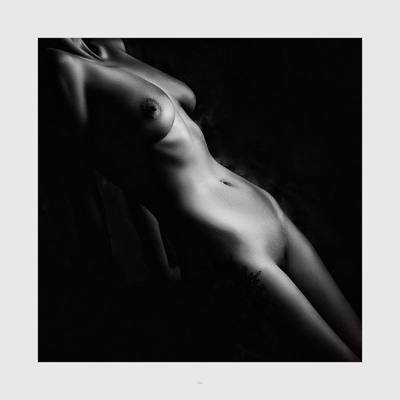 woman, body, nude, light, black and white, studio Bodyscapephoto preview