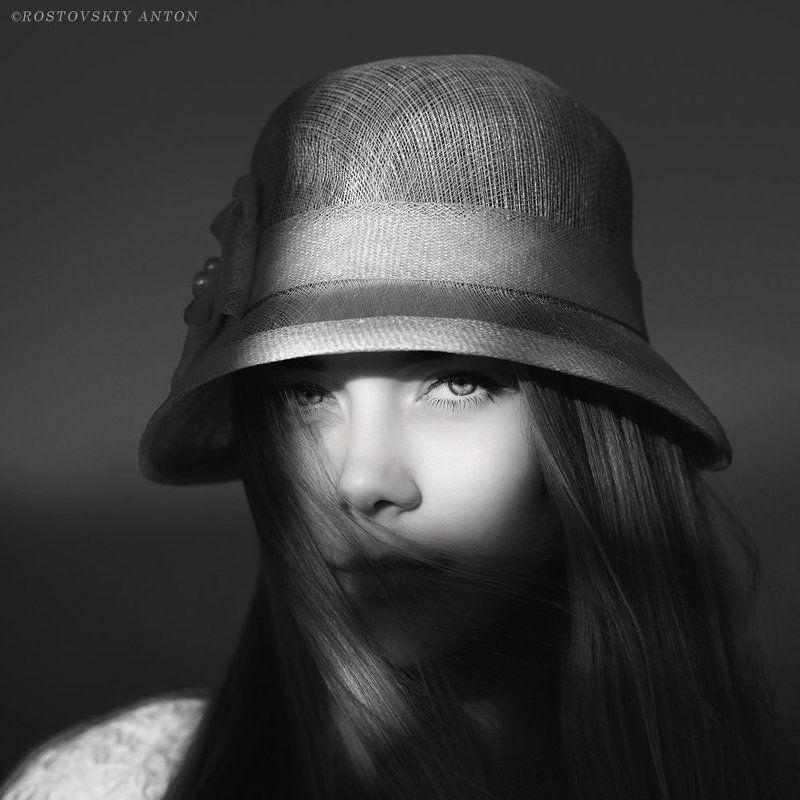 Портрет, девушка, ЧБ Оляphoto preview