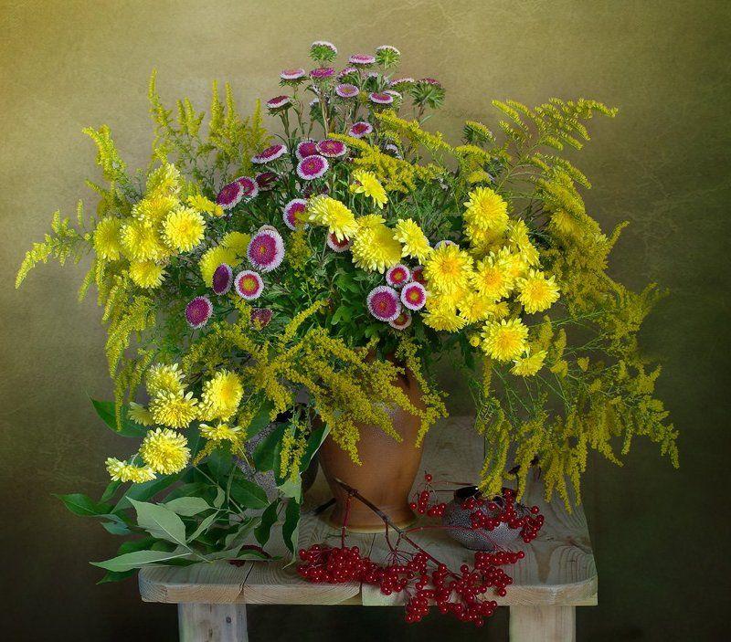 осень,цветы, вера павлухина,натюрморт, Цветы осениphoto preview