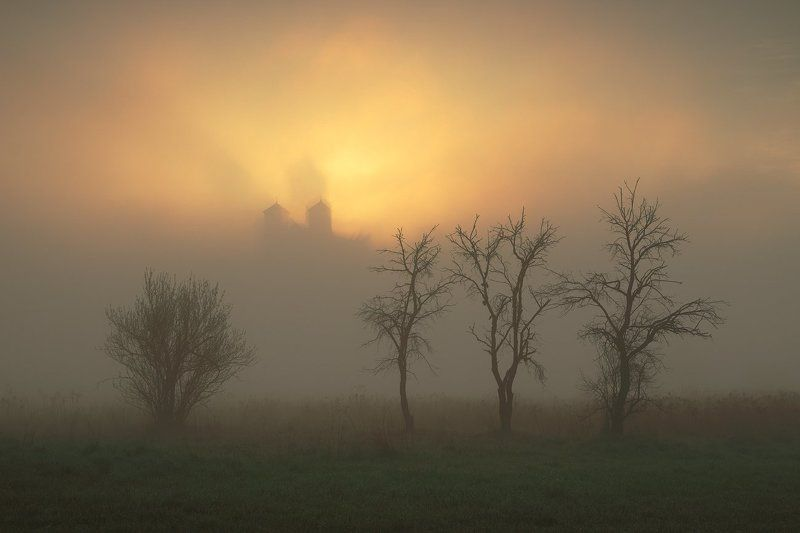 morning, mood, sunrise, monastery, tyniec Ghostsphoto preview