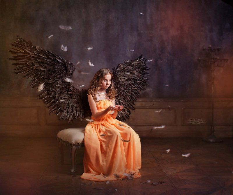 портрет, детский портрет, ангел, арт, арт портрет, студия Про Ангела... грусть и мечты...photo preview