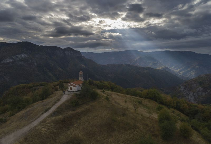 church,rodopi,bulgaria,autumn,pray,landscape,air photography The answer..photo preview