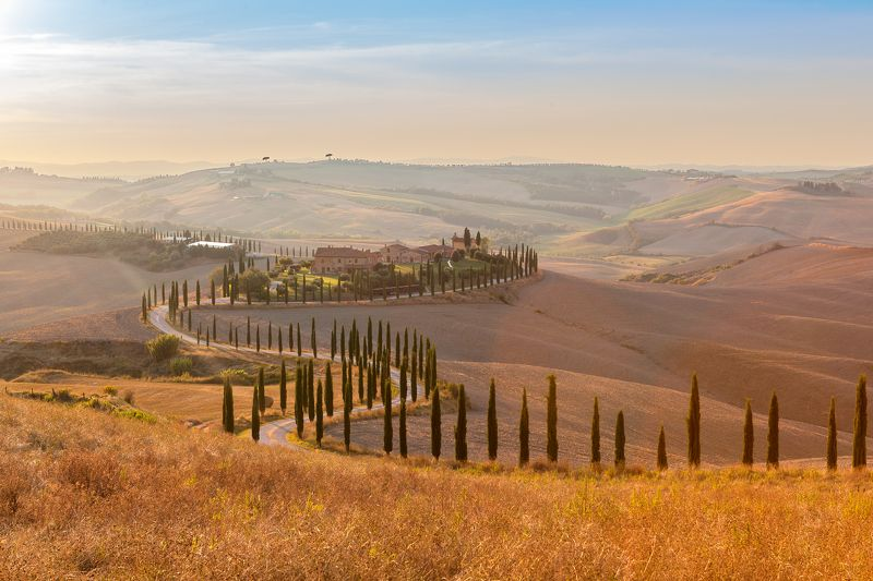 Tuscany, italy, landscape, sunset,  Tuscany (Country Life & Wine)photo preview
