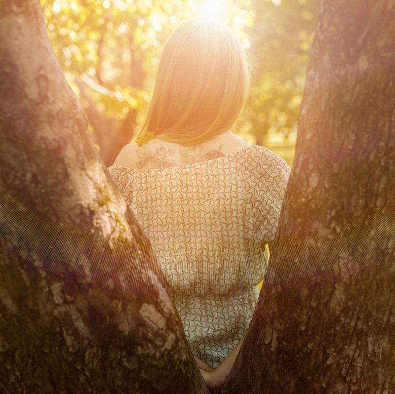 девушка,солнце,природа Осенняя негаphoto preview