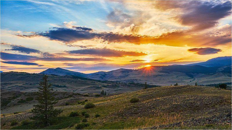 пейзаж, закат, горы, Горный Атай Про закат.photo preview