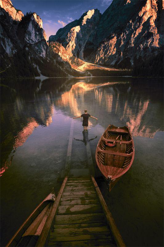 Озеро Брайес, лодка и яphoto preview