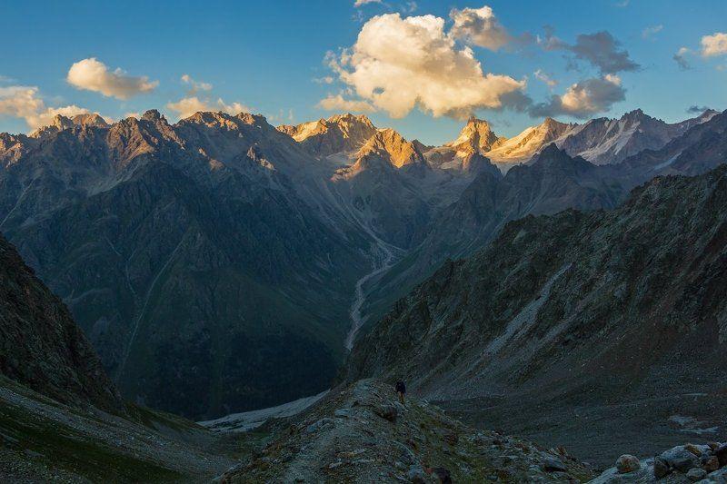 горы, закат там где приходит закат...photo preview