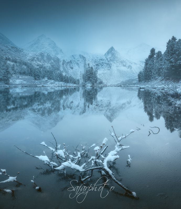 крепкое, алтай, снег, озеро, мультинские, ледники photo preview