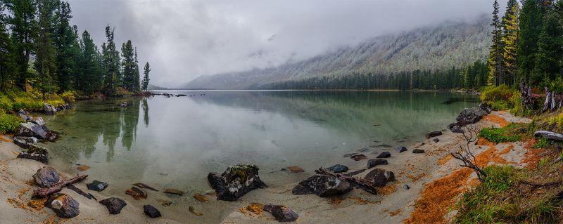 природа, пейзаж, алтай, горы, осень, мульта, озеро, панорама, снег, сибирь, Заснежилоphoto preview