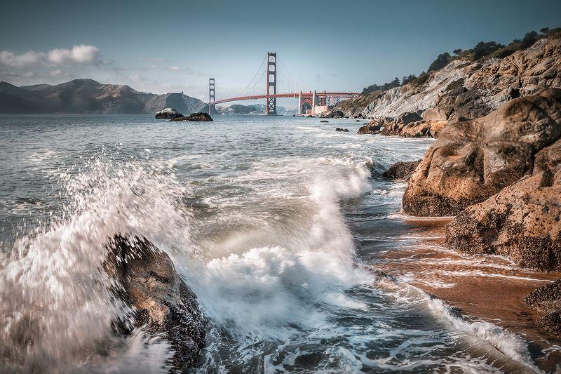 san-francisco, тихий океан, golden gate, мост, брызги, волна, *Frisco*photo preview