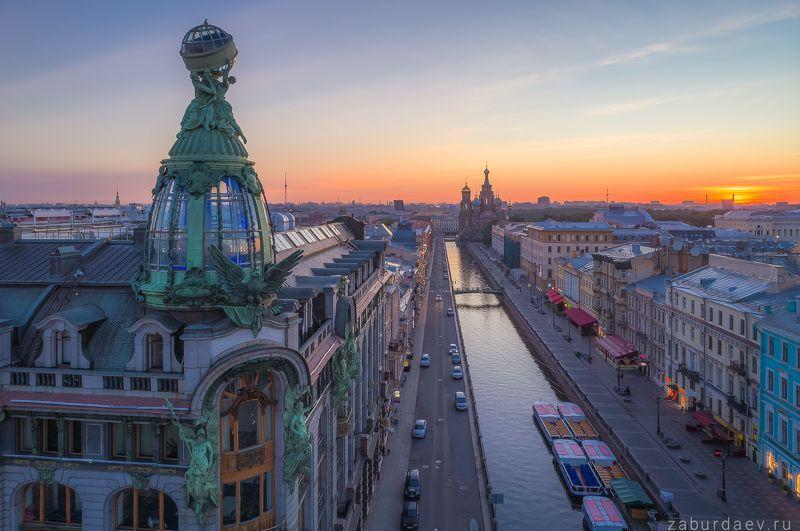 россия, петербург, санкт-петербург, город, архитектура, лето, рассвет Здание «Зингер»photo preview