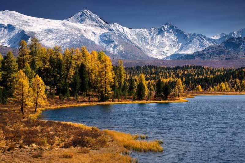 алтай, горы, осень, киделю В ясный деньphoto preview
