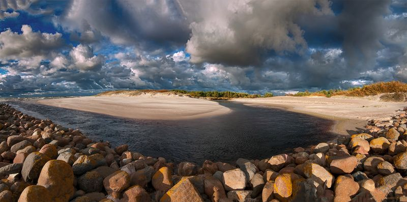 sky,clouds,sea,river,dunes Autumn skyphoto preview