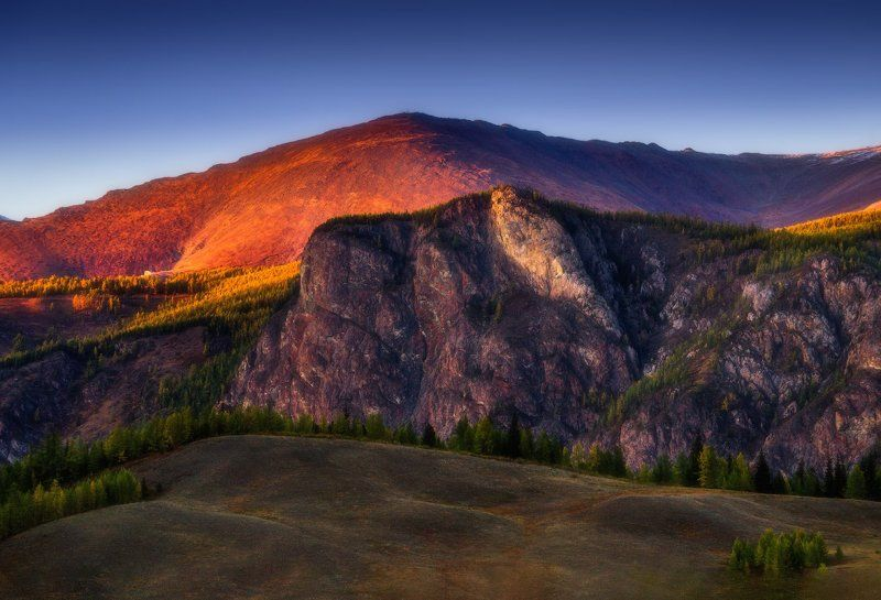 алтай, горы, осень Алтайский вечерphoto preview