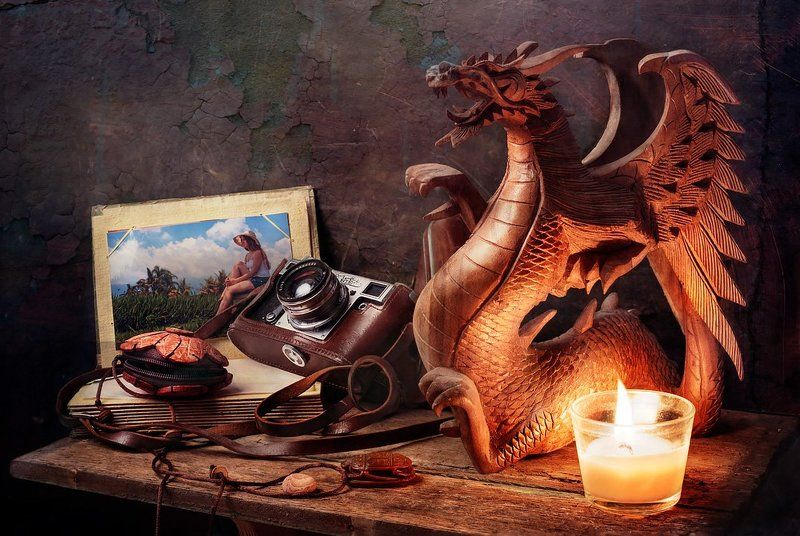 Балийский натюрморт с дракономphoto preview