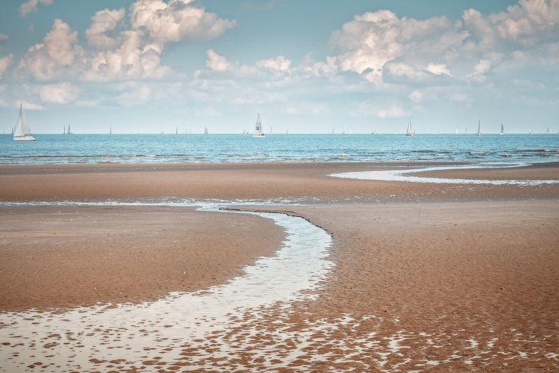 море,пляж, небо, облака, яхты,бельгия *Соленый ветер*photo preview