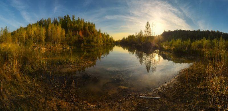 щепилово, тула В вечернем свете озеро сияло...photo preview