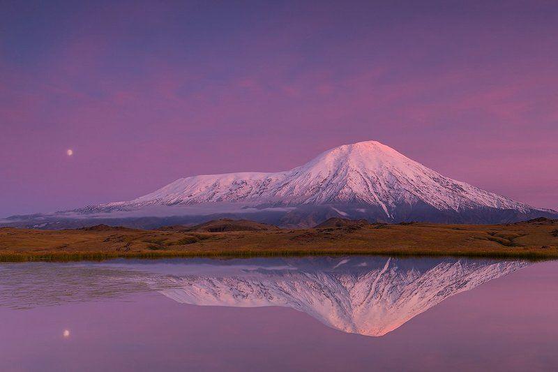 Камчатка, лето, природа, путешествие, пейзаж, закат  На закате дняphoto preview