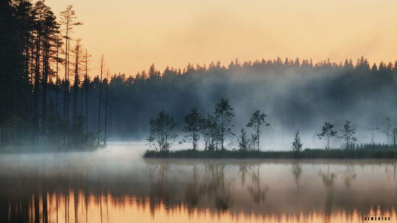 карелия, озеро, закат, туман, лес, настроение. Карельские сказки.photo preview