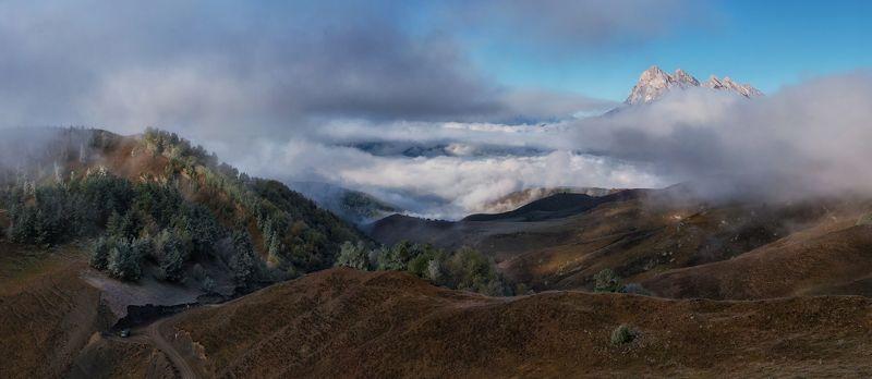 Осеннее утро в Ингушетии.photo preview