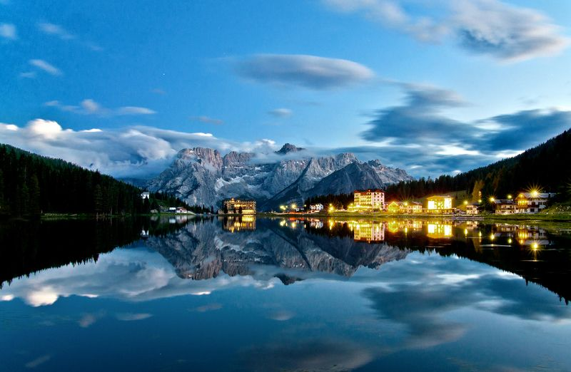 Italy, dolomites, lake, misurina, landscape Lake Misurinaphoto preview