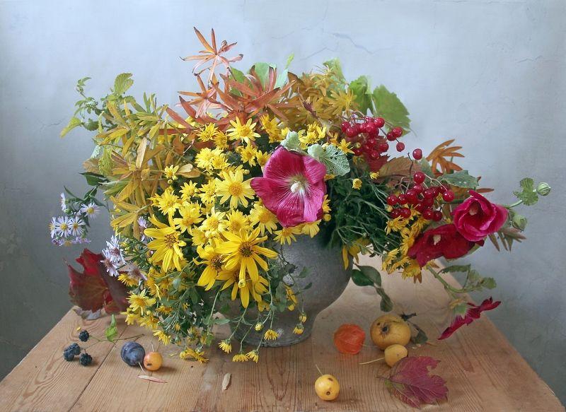 натюрморт, цветы, марина филатова, осень Осень краски разбросалаphoto preview