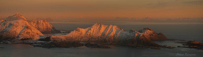 природа, путешествия, закат, горы, лофотенские острова Вечерние Лофотеныphoto preview