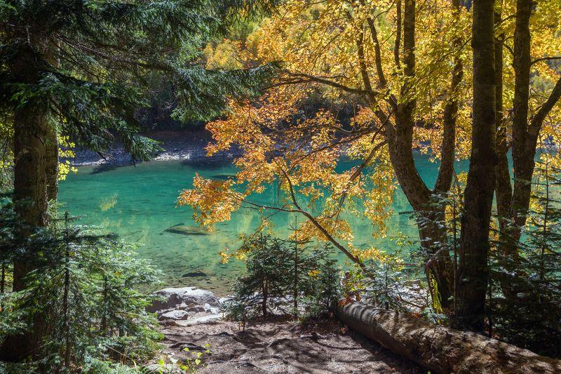 крачаево-черкесия ,кчр ,горы,бадукские озера ,теберда ,тебердинской заповедник ,озеро,осень Осень на Бадукских озера ...photo preview