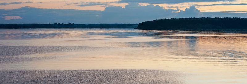река, волга, вечер, закат, волны, блики на воде, калязин Pro магию волн (2)photo preview