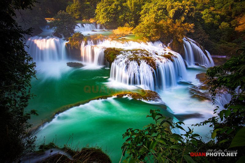 quanphoto, landscape, nature, waterfall, long_exposure, caobang, vietnam Ban Gioc waterfall in Vietnamphoto preview